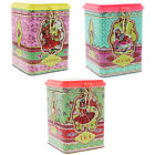 Cotton Candy Woodland Girl Retro Kitsch Tea Coffee Sugar Metal Cannister Tins