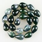K59573 18x13mm Moss agate pear-shaped loose beads 22pcs