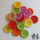 LARGE ACRYLIC BUTTONS 28 mm X  19 ASSORTED  SEWING/ CRAFT SUPPLIES