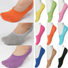Women Color Non Slip No-Show Sporty Casual Cotton Foot Liner Footie Socks 1 LOT