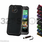 NEW STYLISH SHOCK PROOF SERIES CASE COVER FOR HTC One M8 Mini SCREEN PROTECTOR