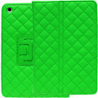 Quilted Folio Leather Stand Cover for Apple iPad Mini Magnetic Flip Stitch Case