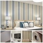10M,3D Simple Vertical Stripes  Non-Woven Wallpaper Rolls;Bedroom &Sitting Room