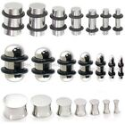 Steel Ear Plug - Solid Metal Flesh Tunnel - Straight or Double Flare Stretcher