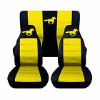 2008-2010 Ford Mustang Coupe Horse Seat Covers Separate Headrest Covers