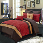 Atlantis Red 8-Piece Comforter Set, Includes Comforter, Skirt, Shams, Pillows