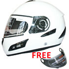 LEOPARD LEO-818 Scooter Motorcycle Motorbike Crash Helmet Road Legal Gloss White