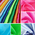 """NEW Satin Feel Fabric BY THE YARD 60"""" Wide Bridal Wedding Dress Crafts Constume2"""