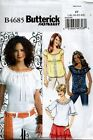 Butterick Easy Sewing Pattern 4685 Peasant Shirt Top Gathered Blouse Sew NEW