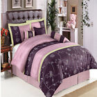 Grand Park Purple 7-Piece Luxury Comforter Set