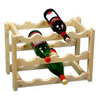 Wooden Wine Rack 3 Tiers Bottle Holder Storage Display Shelves up to 12 Bottle