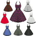 Hearts And Roses London A Topos 50S Fiesta Rockabilly Pinup Swing Vestido