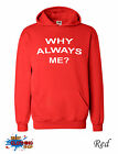 WHY ALWAYS ME BALOTELLI FOOTBALL LIVERPOOL ANFIELD  Hoodie S-XXL -  Red