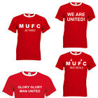 NEW Manchester United Retro T Shirt - Cheap Man U Man UTD tee MUFC tee shirt
