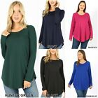 NEW PLUS SIZE 1XL 2XL 3XL BASIC LONG SLEEVE V-NECK T-SHIRT ~ 16 COLORS #5003