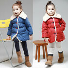 Kids Girls Outwear Jacket Snowsuit Coat Winter Clothes Fur Collar Outwear Y3-10
