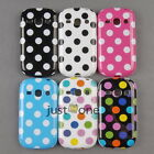 Cute Dots TPU Fitted Case Cover Back Shell Protector f Samsung Galaxy Fame S6810