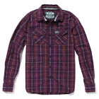 Superdry Mens MS4HE375 IAM - Heritage Washbasket L/S Shirt Spinner Plaid Plummet