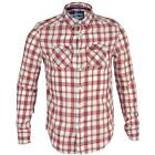 Superdry Mens MS4GT025 ODM Paperweight Ombre Long Sleeve Shirt Red Snapper Check