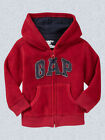 NEW GAP RED FLEECE LOGO HOODIE SIZE 6-12-18-24M