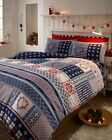Design Nordic Blue & Red In A Soft Flannelette. Quilt Cover Sets, In All Sizes!!