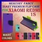 MERCURY PREMIUM DIARY FLIP FLAP CASE for XIAOMI REDMI 1S MOBILE WALLET COVER NEW