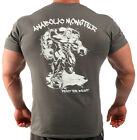 Anabolic Monster Charcoal Bodybuilding T-shirt Workout Gym Clothing