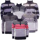 Boys Vintage Eighty 8 Long Sleeve Multi Stripes Knitted Jumper In 6 Colours
