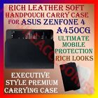 RICH LEATHER SOFT CARRY CASE for ASUS ZENFONE 4 A450CG MOBILE HANDPOUCH COVER