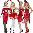 Ladies Womens New Sexy Christmas Santa Girl Pinup Fancy Dress Costume Outfit
