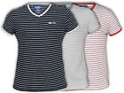 Mens T Shirts Holmes & Co Stripes Cotton V Neck Short Sleeved Casual Summer New