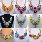 Hot Fashion Charm Mixed Style Chain Crystal Choker Chunky Statement Bib Necklace