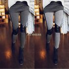 Hot Lady Sexy Women Stitching Skinny Elastic Leggings Tights Pants Stretchy BF9
