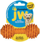 MEDIUM CHOMPION DOG TOY - JW Pet Rubber Barbell Dumbbell Fetch Bouncy Non-Toxic