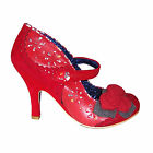 Irregular Choice Red Echo Vintage Rose Mary Jane Rockabilly Vintage Jive Shoes