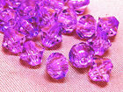 6mm 200/400/600/800/1000pcs VIOLET FACETED ACRYLIC LUCITE BICONE BEADS TY3010