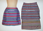 KAISELY - SKIRT – STRIPED – WOVEN - MINI - MULTI-COLOR - JR SM or MED – NWT $20
