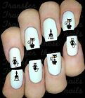 30 BLACK SCARY CAT NAIL ART DECALS STICKERS TRANSFERS PARTY FAVORS HALLOWEEN