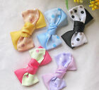 20/100pcs Grosgrain Ribbon Bows Flowers Wedding Appliques Decoration Craft RB035