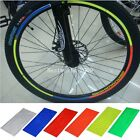 Fluorescent Bike Bicycle Rim Reflective Cycling Tape Stickers Decal 6 Colors