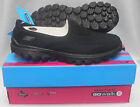 New Skechers 13590 Ladies Go Walk 2 Slip On Shoes - Black (BBK)