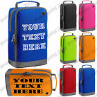 PERSONALISED BOOT BAG FOOTBALL RUGBY TOILETRY SPORTS SCHOOL TRAVEL  GOLF SHOE