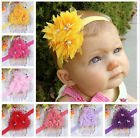 Baby Girls Flower Hairband Soft Elastic Headband Hair Accessories Band Hot Newly
