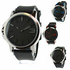 Mens Simple Modern Minimalist Design Analog Qartz Round Fashion Wrist Watch image