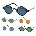 Unisex Retro Style Metal Frame Small Round Circle Lens Runway Fashion Sunglasses