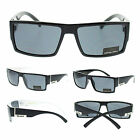 Locs Black Mens Hardcore Gangster Rectangular Plastic Biker Sport New Sunglasses