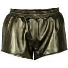 VIPARO Gold Rush Sport Luxe Lambskin Leather Track Short Shorts  - Bailey