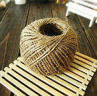 3Ply 2mm Chic Rustic Natural Jute Twine String Hemp Wrap Cord Tag Crafts