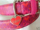 NEW COACH WAVERLY PINK PRINT 67599 XS SMALL LARGE LEATHER DOG COLLAR XS S L
