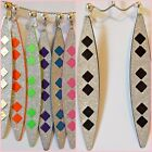 Shimmer Glitter 4 in Long Dangle Drop CLIP or Pierced Fashion Earrings Choose 1
